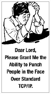 Dear Lord, Please grant me the ability to punch people in the face over standard TCP/IP